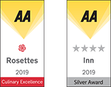AA Rosette and AA Silver 4 star